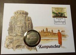 Numisbrief Coin Cover   Kamputschea  4 Reis 1993    #numis61 - Cambodia