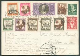 N°44/50-52/3 Obl. Dc POSTA VATICANO Sur Carte Recommandée Du 12.9.1938 Vers Vyskov (RUSSIA)-. - 11848 - Vatican