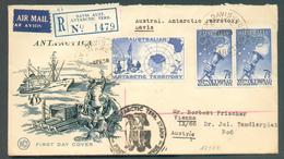 AUTRALIE N°241 + 232(x2 - OLYMPIC 16e Olympiade Melbourne) Obl. Sc DAVIS Sur Enveloppe Ill. (ANTARTICA) Recommandée Et P - Expéditions Antarctiques