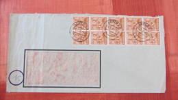 Fern-Brief Mit 24 Pfg Arbeiter 10-fach In Einheiten Aus Leipzig C2 Vom 2.7.48 Auf Fensterumschlag Knr: 10-fach