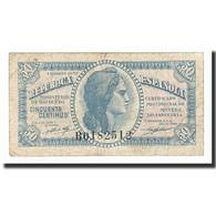 Espagne, 50 Centimos, Undated (1938), KM:96M, TB+ - [ 2] 1931-1936 : Repubblica