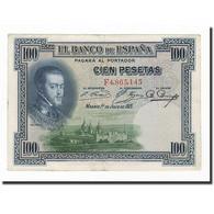 Espagne, 100 Pesetas, 1925, KM:69a, 1925-07-01, TB - [ 1] …-1931 : First Banknotes (Banco De España)