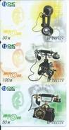 3 Télécartes Chine Téléphone  Phonecard (S 22) - Telefoni