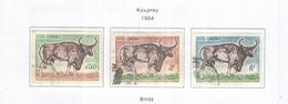 Cambogia 1964 Em.Kouprey  Valori N.3 Usato  Scott 129/131+ See Scans