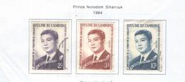 Cambogia 1964 Em.Principe Sihanouk  Valori N.3 Usato  Scott 138/140+ See Scans