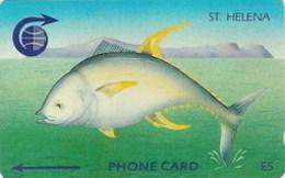 ST. HELENA : STH-07 £5   Tuna Fish   Old Logo  3CSHB  USED - St. Helena Island