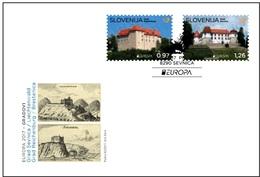 Slovenia.2017.Europa CEPT.Castles.FDC
