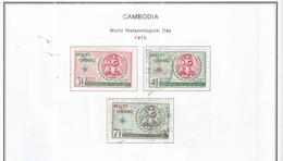 Cambogia 1970 Em.Meteo  Valori N.3 Used  Scott 234/236 See Scans