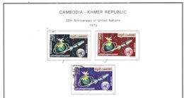 Cambogia 1970 Em.25 Ann.Onu  Valori N.3 Used  Scott 237/239 See Scans