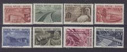 AL 1953-525-32 DEFINITIVE, ALBANIA, 1 X 8v, MNH - Albanien