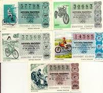"Classe Ouverte "" Motocyclettes "", (Loteria Nacional De España) 5 Differents"