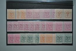 Belgique 1951/61 Paires MNH