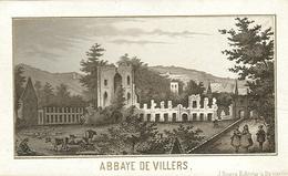 Foto/druk Op Hard Karton Photo (6,5 X 11cm) Abbaye De Villers (J Rozez Editeur à Bruxelles) - Villers-le-Bouillet