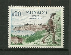 """MONACO 1960  TAXE   N°60   """" Pédon Chargé Du Transport Du Courrier Entre Monaco Et Nice """"     NEUF - Taxe"""