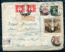 RUSSIA YR 1928,FOREIGN EXCHANGE,REGISTERED COVER 110 TO LONDON,READ DESCRIPTION
