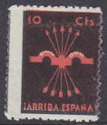 LOTE 1278  ///  (C100) VIÑETA FALANGE ¡ARRIBA ESPAÑA! Nº 7 GALVEZ - ROJO SOBRE NEGRO - Emissioni Nazionaliste