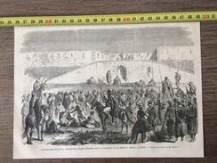 ENV 1860 INSURRECTION D ALGERIE PRISONNIERS ARABES CASEMATE DE LA PORTE DU SERSOU A TIARET - Vieux Papiers