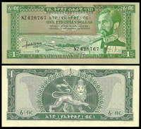 Ethiopia 1 Dollar 1966 P25a AUNC - Etiopía
