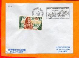 MAINE ET LOIRE, St Georges Sur Loire, Flamme SCOTEM N° 2730, Chateau De Serrant, Abbaye - Marcophilie (Lettres)
