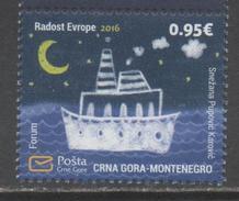 MONTENEGRO,2016, MNH, CHILDREN'S DRAWINGS, JOY OF EUROPE, SHPS,  1v - Ships