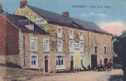 Leignon - Hôtel De La Poste (animée, Colorisée, Oldtimer, Garage, Phototypie Desaix) - Ciney