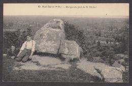 79846/ MONT-DOL, Marque Du Pied De St-Michel - Frankreich
