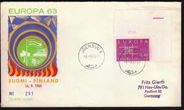Finland Joensuu 1963 / Europa CEPT - 1963
