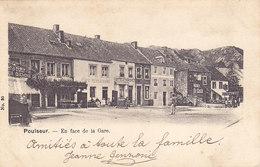 Poulseur - En Face De La Gare (animée, Café Restaurant, Marchand De Glaces(?), Précurseur - Sprimont