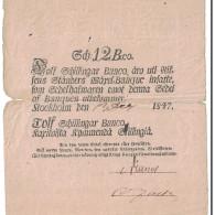 Suède, 12 Schillingar Banco, 1847, KM:A101a, TB - Suède