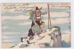 Bergsteiger, Humorkarte 1901 - Alpinisme