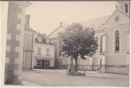 STUDIO PHOTO J. LACHATRE TOURS - RARE - EPREUVE SANS RETOUCHE : BOULANGERIE - ENFANTS PLACE DE L'EGLISE - 2 SCANS -