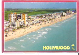 Hollywood Beach, Florida With Its Wide Beach And Boardwalk