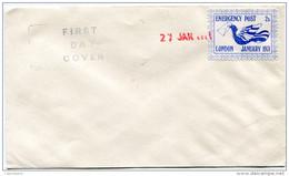 "GRANDE-BRETAGNE ENVELOPPE AFFRANCHIE AVEC TIMBRE DE GREVE ""EMERGENCY POST LONDON JANUARY 1971"" - Other"