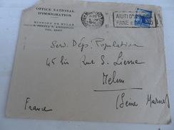 ITALIA  REP  Busta 1948 CON TARGHETTA  AIUTIND'AMERICA PANE E LAVORO - 1946-60: Marcophilia