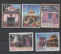 NEPA, 2016, MNH, TOURISM, VISIT NEPAL, TEMPLES,5v
