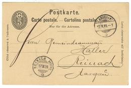 Suisse // Schweiz // Switzerland //  Entier Postaux  // Entier Postal  Au Départ De Landquart Le 17.09.1889