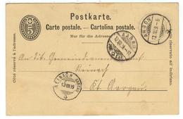 Suisse // Schweiz // Switzerland //  Entier Postaux  // Entier Postal  Au Départ De Arbon Le 12.03.1889