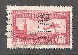 Perforé/perfin/lochung France Poste Aérienne No 5  H.W  Les Petits Fils De F. De Wendel