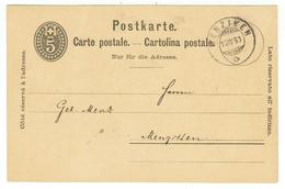 Suisse // Schweiz // Switzerland //  Entier Postaux  // Entier Postal  Au Départ De Menziken Le 10.04.1890