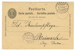 Suisse // Schweiz // Switzerland //  Entier Postaux  // Entier Postal  Au Départ De Aarau Le 06.05.1890