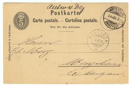 Suisse // Schweiz // Switzerland //  Entier Postaux  // Entier Postal  Au Départ De Winterthur Le 03.12.1889