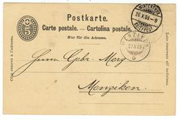 Suisse // Schweiz // Switzerland //  Entier Postaux  // Entier Postal  Au Départ De Winterthur Le 26.10.1889