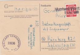 Poste Carte Military Censor Allemagne, Scan R/V.