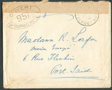 TRESOR ET POSTES 601A Enveloppe Du Détachement Français De PALESTINE Du 21-4-1915 Vers Port-Saïd (Egypte) + Bande Et Cac - Marcophilie (Lettres)