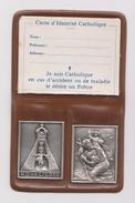 Relique N-D De LIESSE & SAINT JOSEPH .Métal Argenté. - Religion & Esotericism