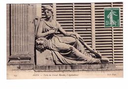 47 Agen Porte Du Grand Marché L' Agriculture Carte Rare Cachet 1909 - Agen