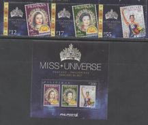 PHLIPPINES, 2017, MNH, MISS UNIVERSE PAGEANT, 4v+S/SHEET