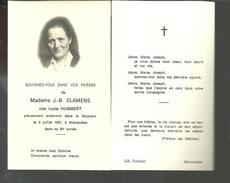 Image Pieuse Souvenez Vous Dans Vos Prières De Mme J B CLAMENS Née Lucie HUMBERT -MONTAUBAN - Santini