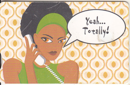 SOUTH AFRICA(chip) - Funky Cards/Yellow/Yeah...Totally!, Telkom Telecard, Chip GEM3.3, Exp.date 01/08, Used