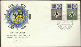 Netherlands Gravenhage 1957 / Europa CEPT / FDC - Europa-CEPT